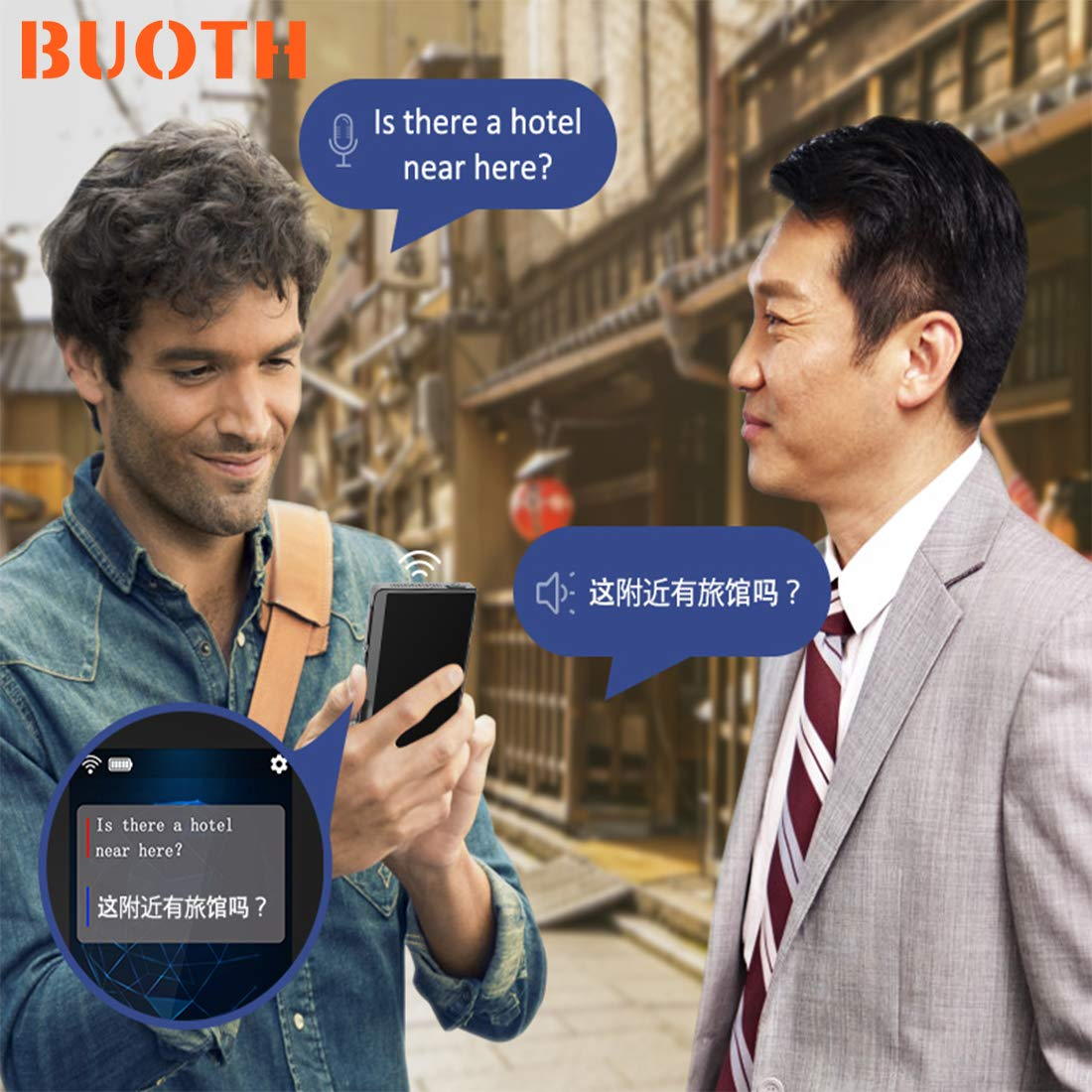 BUOTH Smart Voice Translator Device,70 Languages Instant Two Way Translation with 2.4 Inch Touch Screen Portable for Travelling Learning Business Shopping Meeting by Buoth (Image #4)