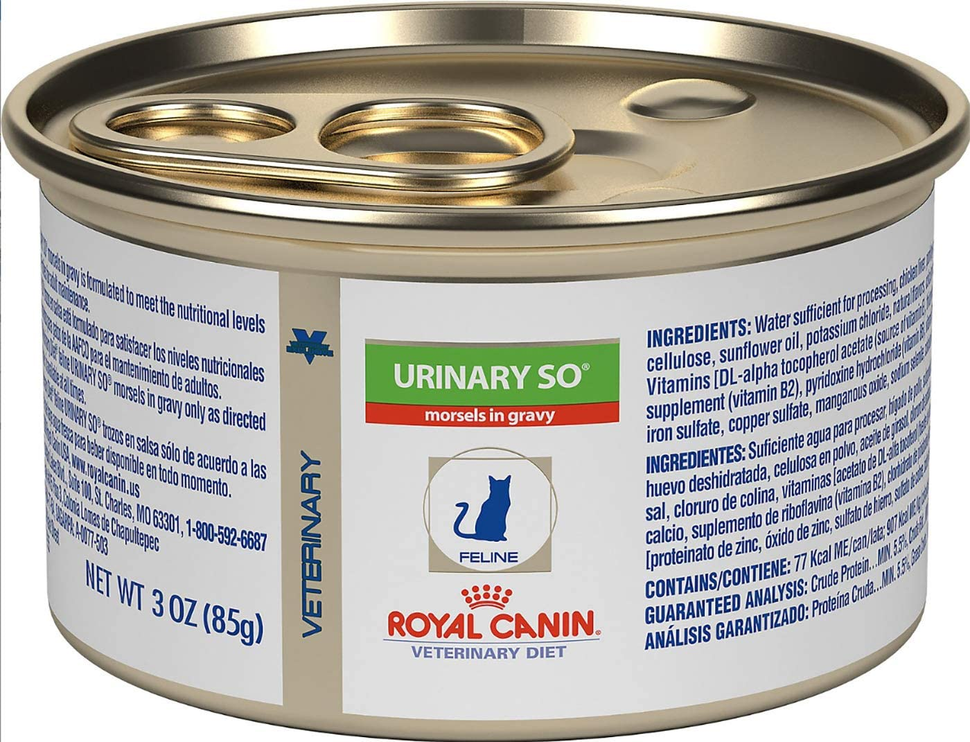 Royal Canin Veterinary Diet Urinary SO Moderate Calorie Morsels in Gravy Canned Cat Food, 3-oz can, case of 24 by Royal Canin Veterinary Diet
