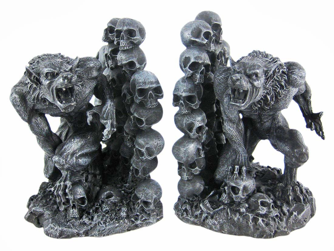 Amazon.com: Snarling Werewolf Bookends Gothic Book Ends Wolf Man: Home U0026  Kitchen