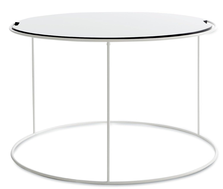 Sitting Bull 25100 Beistelltisch Bull's Table   Outdoor   medium   ø 65 x H 41 cm   weiß