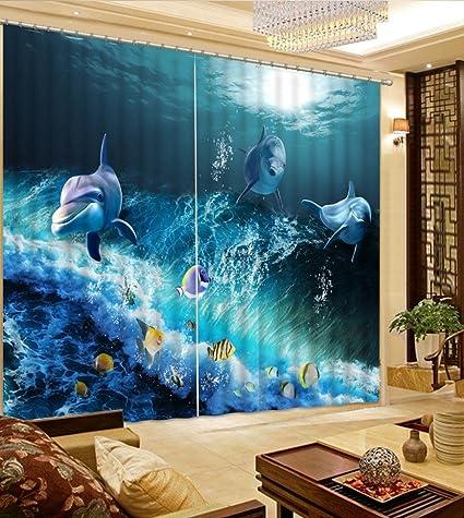 Amazon Com Wapel Blue Living Room Curtains Beautiful Bedroom