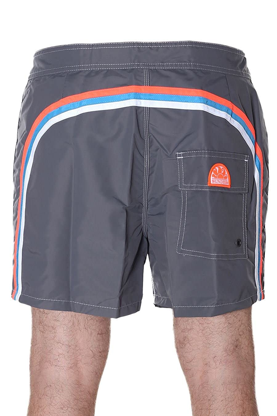Sundek Mens Mid-Length Board Shorts Gray 34