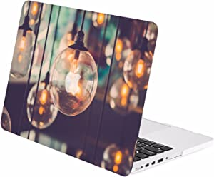 "TOP CASE - Graphics Rubberized Hard Case Compatible MacBook Pro 15"" with Retina Display (Release 2012-2015) Model: A1398 - Brilliant Light"