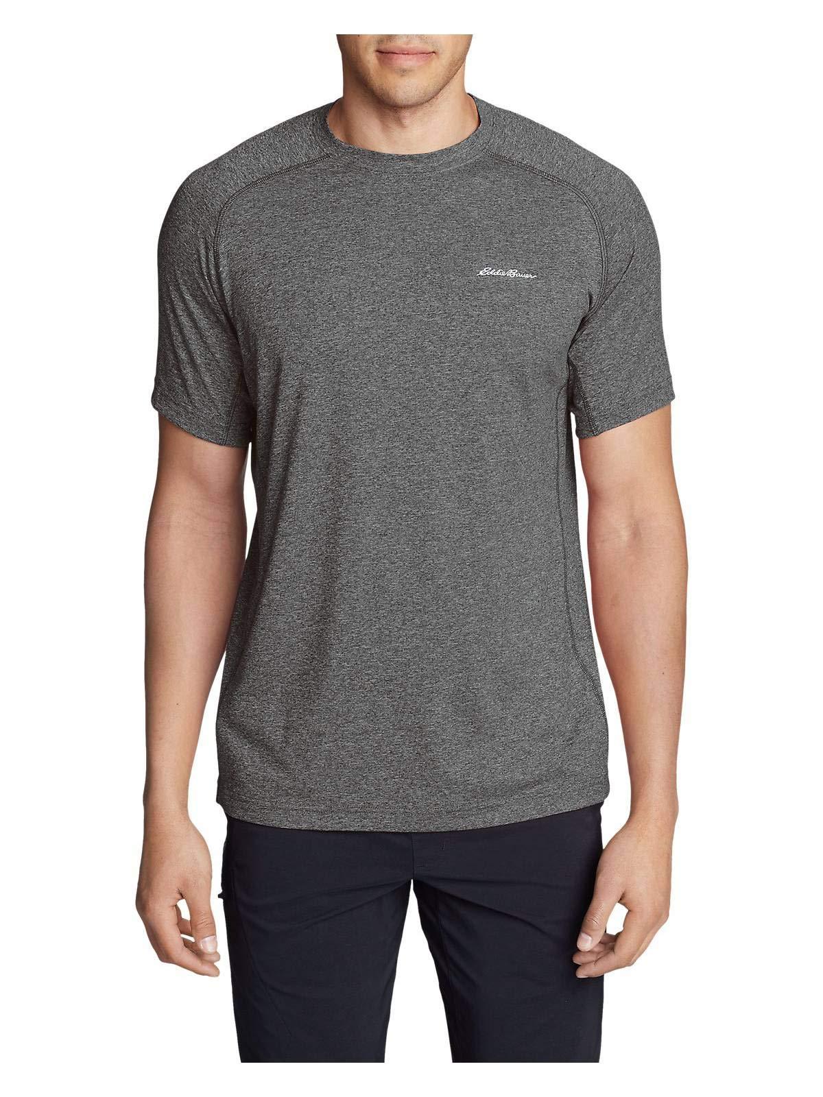 Eddie Bauer Men's Resolution Short-Sleeve T-Shirt, Charcoal HTR Regular S
