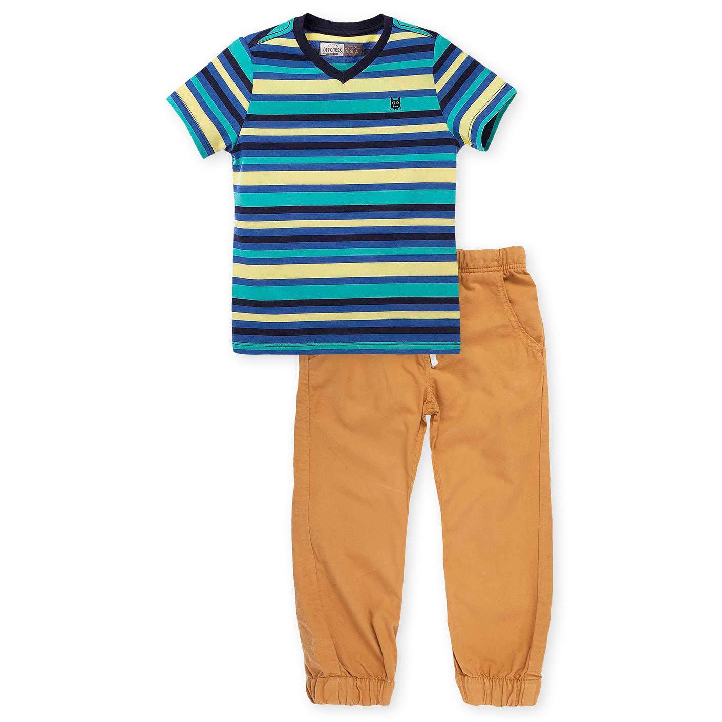 7fe144b18 Amazon.com: OFFCORSS Toddler Boy Cotton T-Shirt + Jogger Pants Set |  Conjuntos de Niños: Clothing