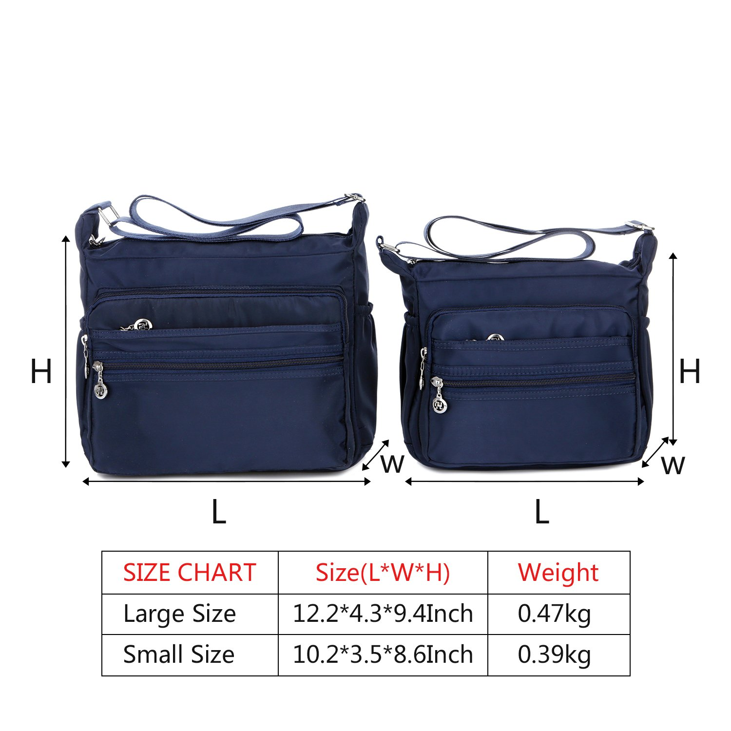 Crossbody Bag for Women Waterproof Shoulder Bag Messenger Bag Casual Canvas Purse Handbag (Small, Navy Blue) by NOTAG (Image #2)