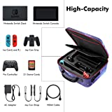 Sunix Carrying Storage Case for Nintendo Switch with 21 Game Cartridges , Protective Hard Shell Travel Carrying Case Large Ca