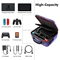 Sunix Carrying Storage Case for Nintendo Switch with 21 Game Cartridges , Protective Hard Shell Travel Carrying Case…