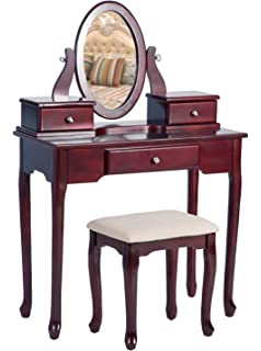Exceptional Merax Vanity Set With Stool Dressing Make Up Table With 3 Drawers And  Mirror Bedroom