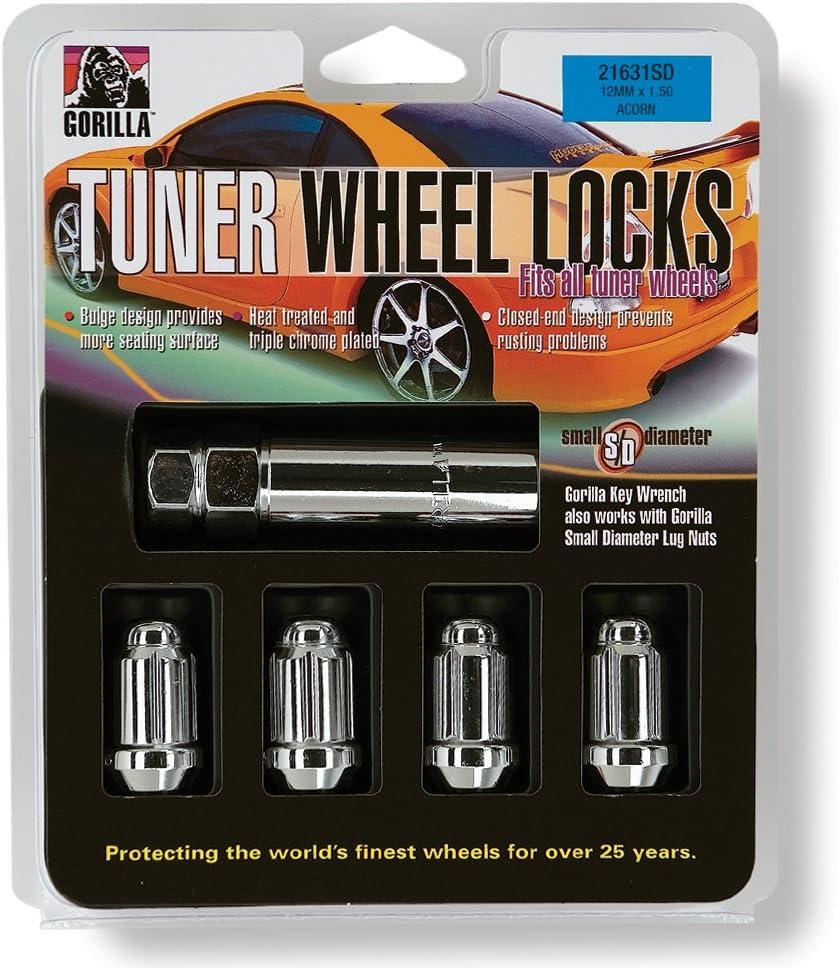1//2 Thread Size Gorilla Automotive 21681SD Small Diameter Wheel Locks