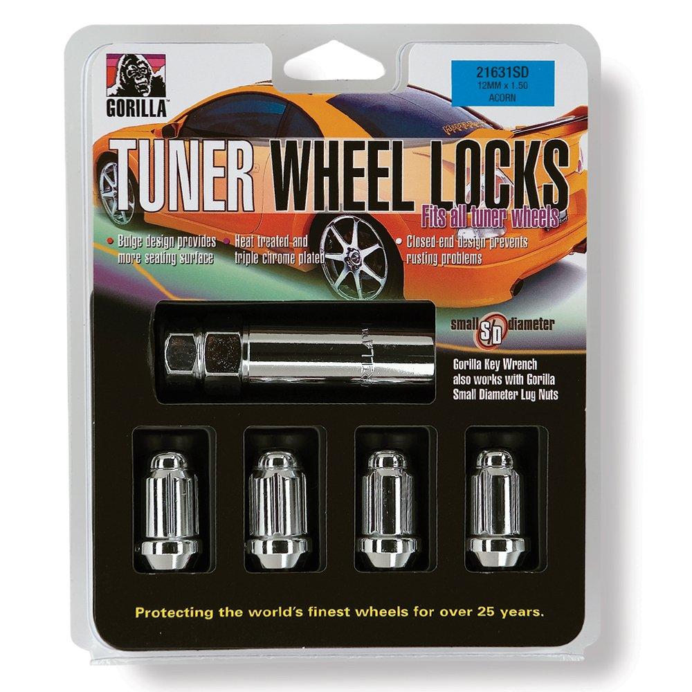 Gorilla Automotive 21681SD Small Diameter Wheel Locks (1/2'' Thread Size) by Gorilla Automotive (Image #1)