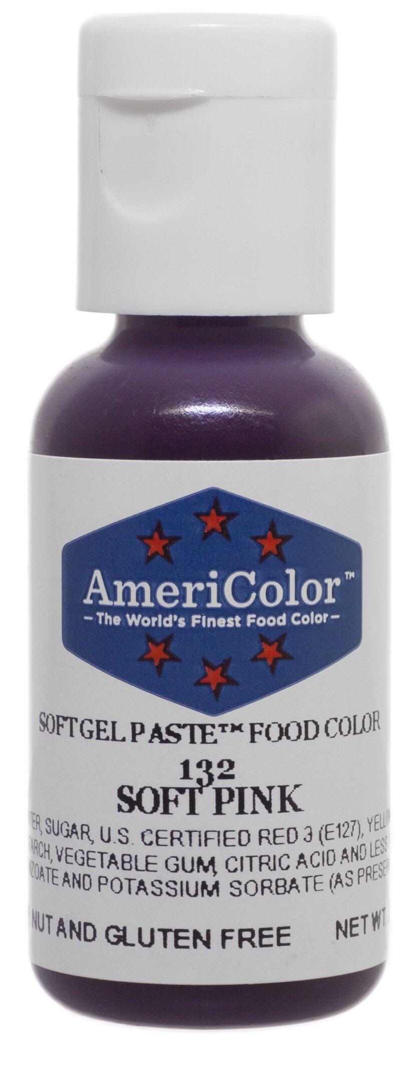 Americolor Soft Gel Paste Food Color, 3/4-Ounce, Soft Pink