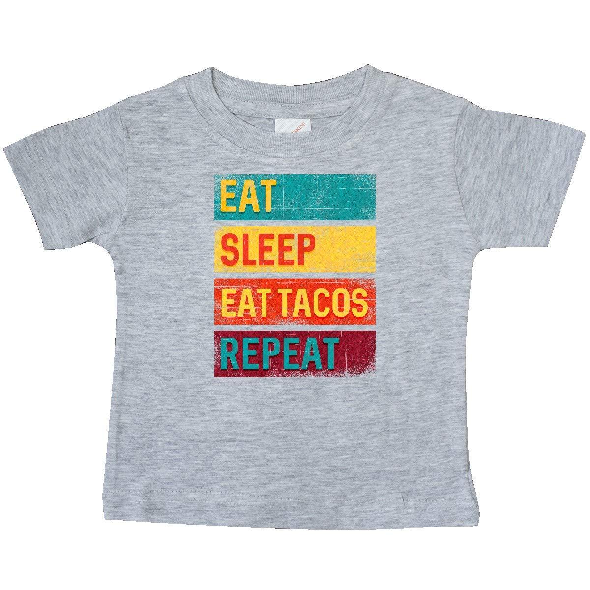 inktastic Funny Taco Eat Sleep Tacos Repeat Baby T-Shirt