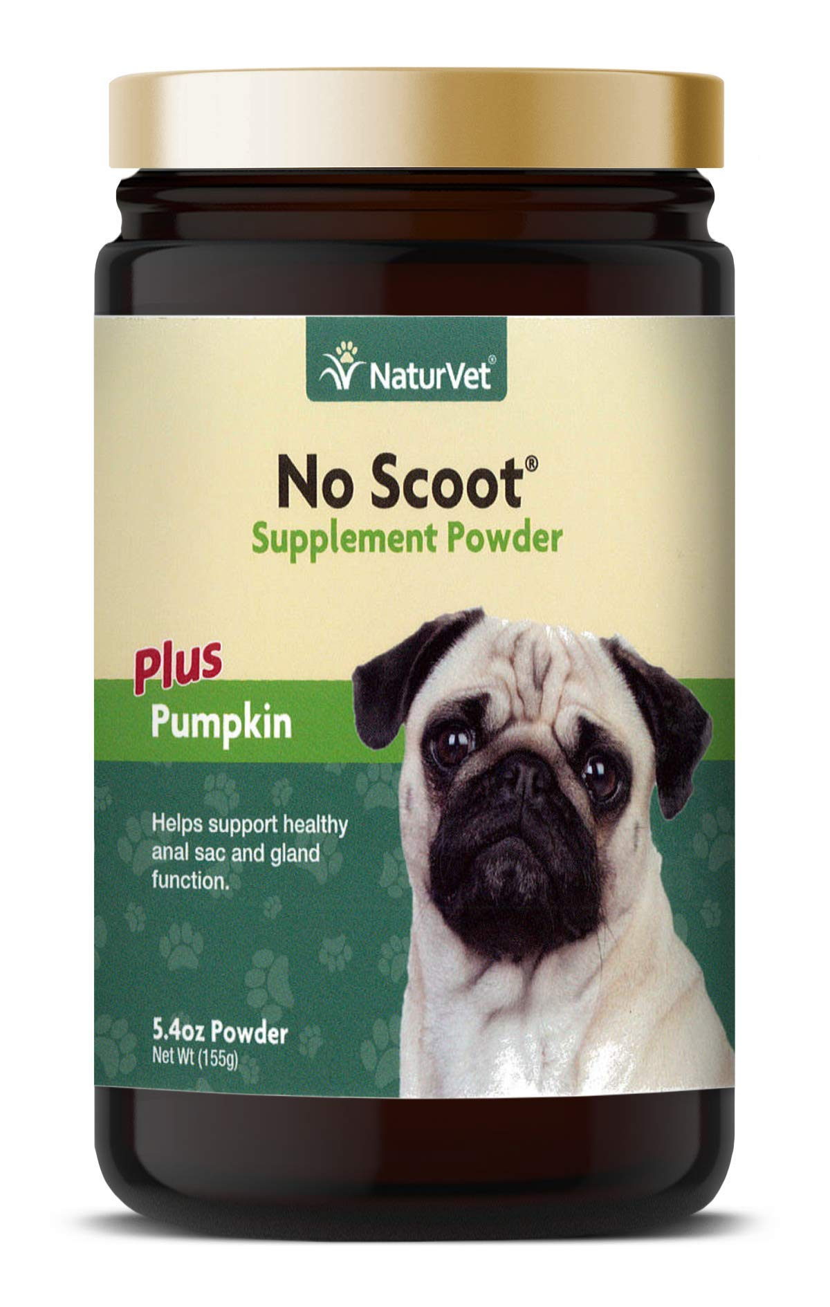 NaturVet - No Scoot for Dogs - Plus Pumpkin - Supports Healthy Anal Gland & Bowel Function - Enhanced with Beet Pulp, Flaxseed & Psyllium Husk - 5.4 oz Powder by NaturVet