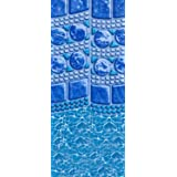 Smartline 18-Foot Round Swirl Tile Liner | Overlap Style | 48-or-52-Inch Wall Height | 25 Gauge Virgin Vinyl | Designed…