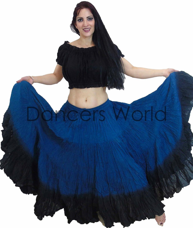 Dancers World 2pieza 25 Yard algodón Falda para Tribal Gitana ...