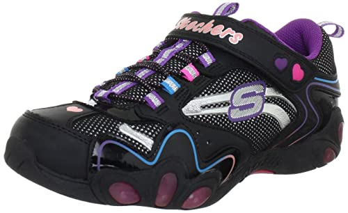 Skechers Fireflies 10168L BMLT - Zapatillas para niña con luces, color negro, talla 30: Amazon.es: Zapatos y complementos