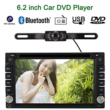 "KKmoon 6.2"" Reproductor Multimedia Navegador GPS 2 Din Mirror Link Connect Android Móvil DVD/"