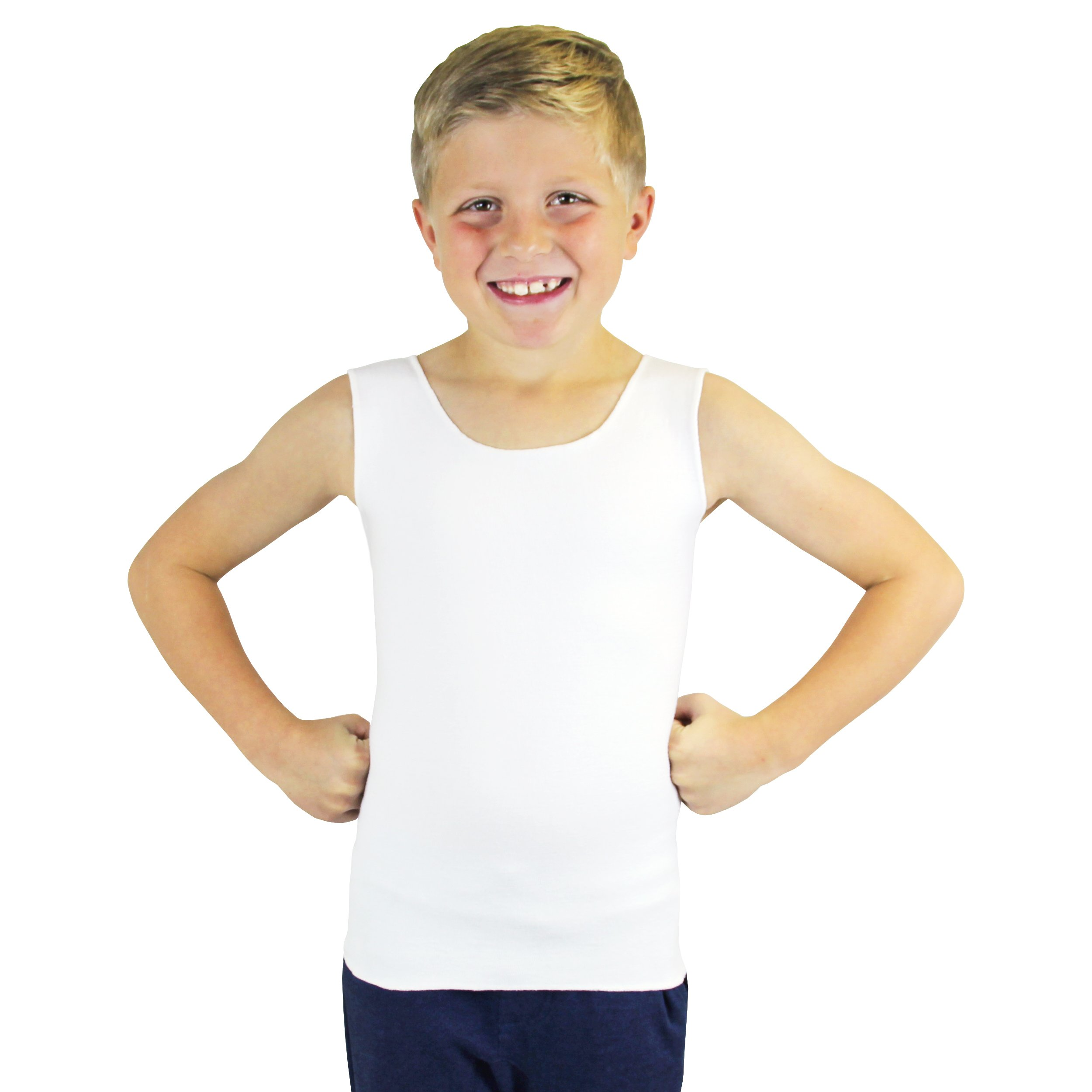 SmartKnitKIDS Compresso-T Compression Undershirt (White, XX-Small)