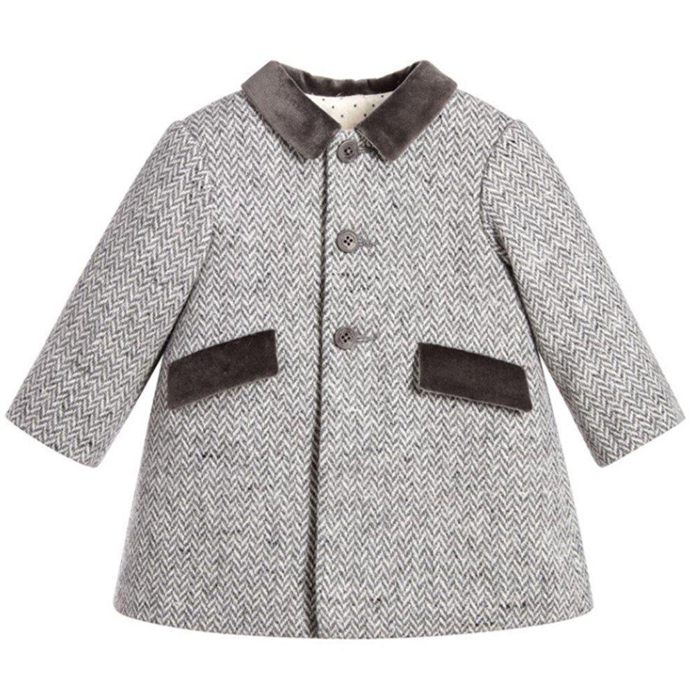 ZPW Baby Boy Wool Peacoat Gentleman Fashion Jacket Coat for Fall/Winter