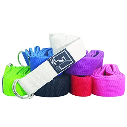 Amazon.com : Fitness First Yoga Strap with D-Rings : Sports ...