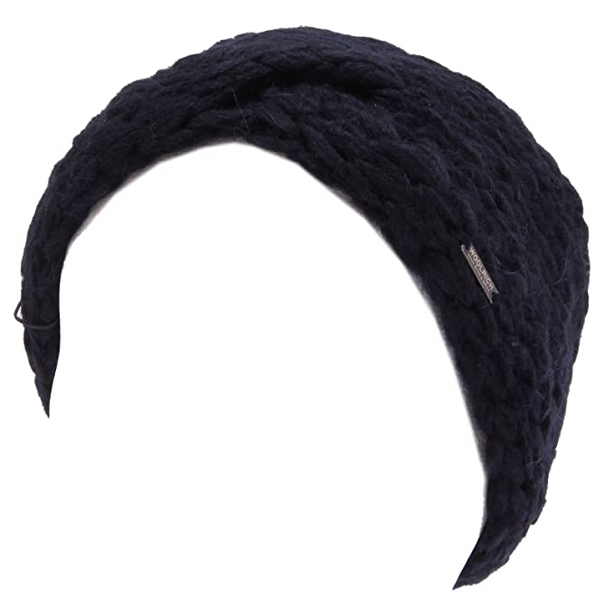 Woolrich 7859W fascia cappello donna blue wool headband woman  T U 49 CM    Amazon.it  Abbigliamento 7787f6e6f98d
