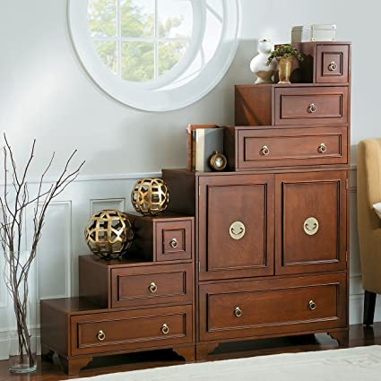 Ordinaire Mandarin Tansu Cabinet In Walnut   3 Piece Set (1 Main Console Cabinet And 2