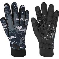 KUPVALON Guantes Moto Invierno/Otoño para Hombre y Mujer con Pantanlla Tactil en los Dedos,Impermeable Guantes…