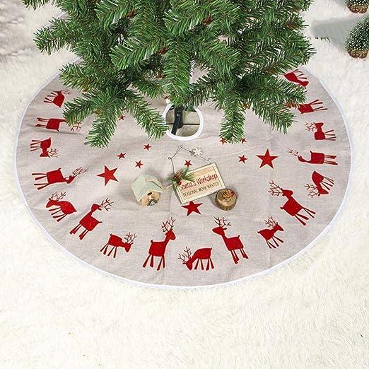 LASISZ Decoraciones Redondas para árboles de Navidad 100cm Tela ...
