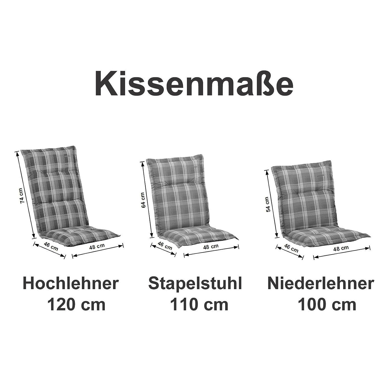 Amazon.de: 6 Kettler Auflagen für Hochlehner Dessin 769 Emma in rot ...