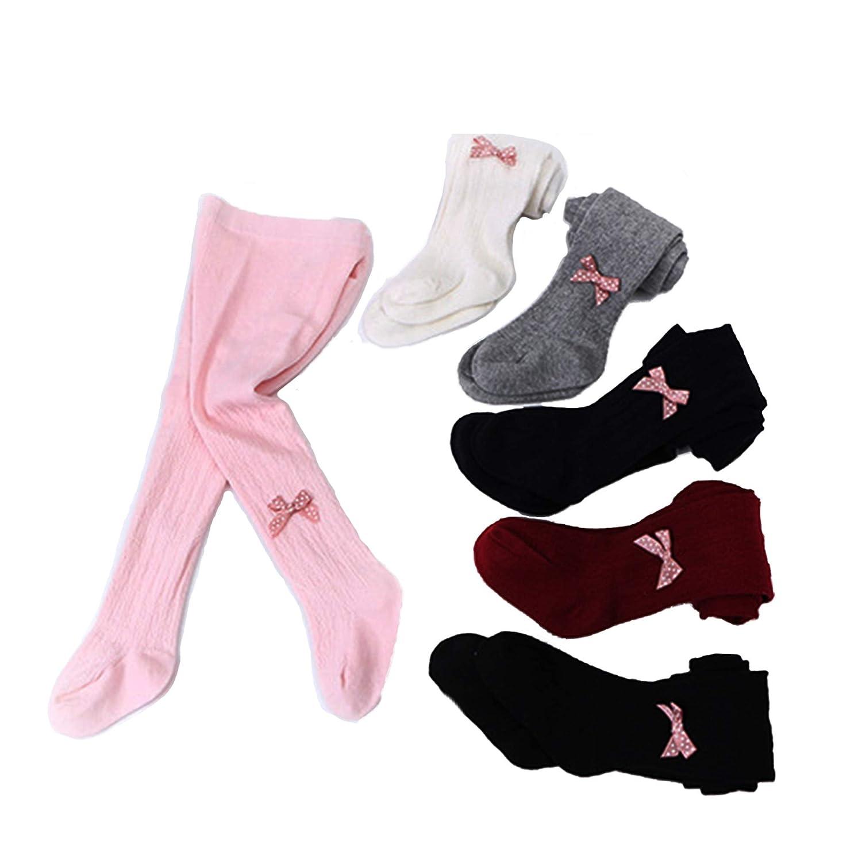 JSHOTS 6 Pack Baby Toddler Girls Children Tights Knit Cotton Leggings Stocking Pants