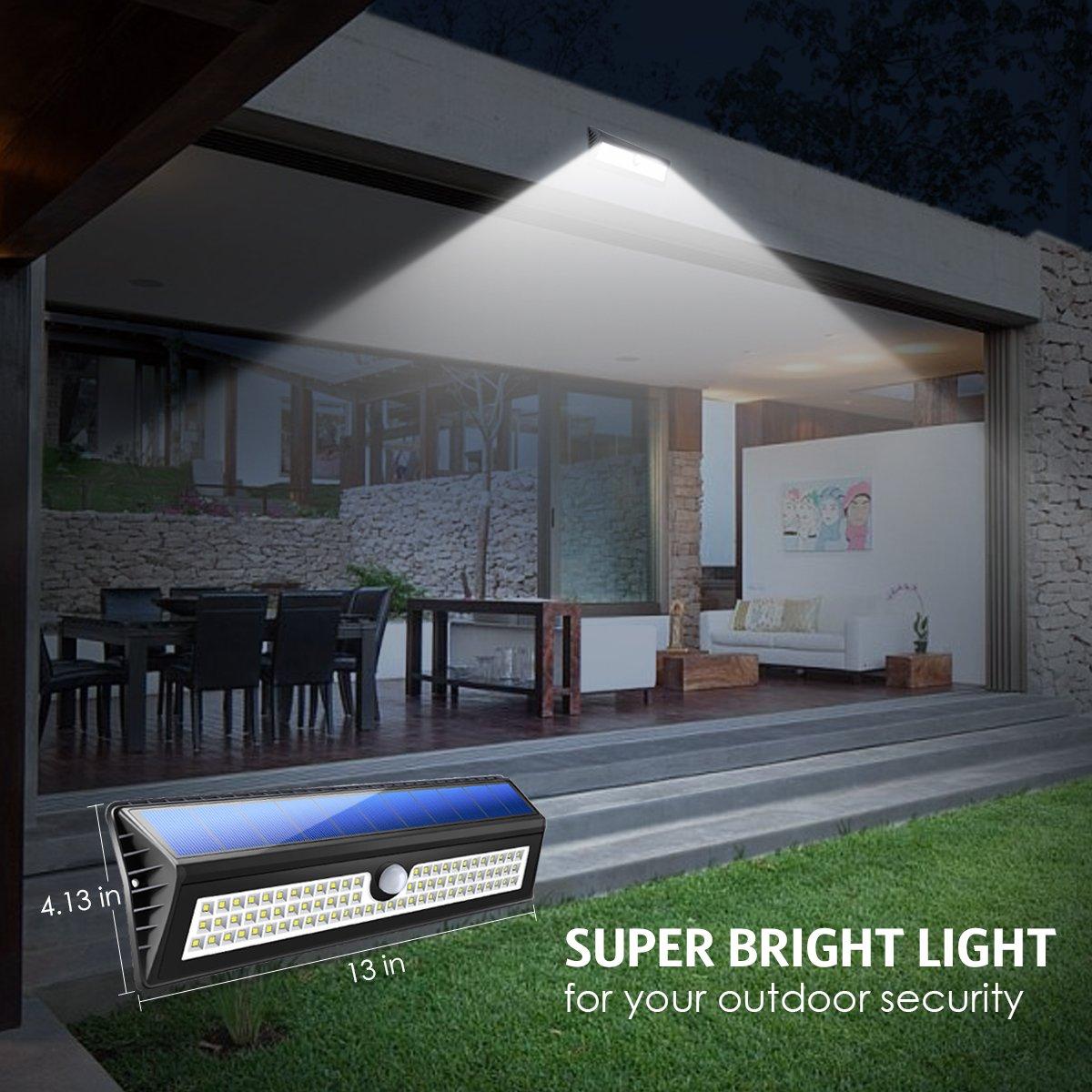 AMIR Solar Lights Outdoor, 77 LED Super Bright Motion