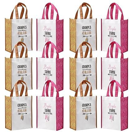 amazon com avery barn 12 pc wedding favor bag set w 6 bridesmaid