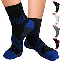TechWare Pro Plantar Fasciitis Socks – Therapy Grade Cushion Ankle Compression Socks Women & for Men. Nano Socks Ankle…