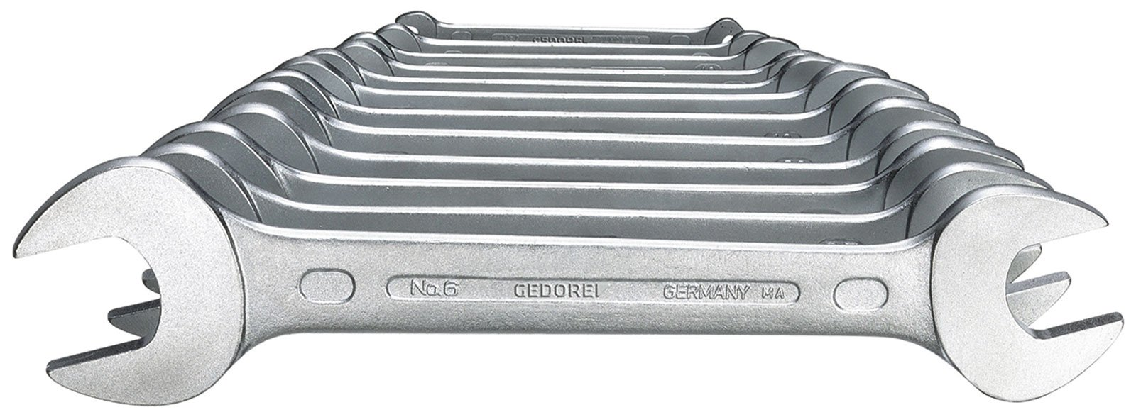 GEDORE 6-122 ISO Double open ended spanner set 12 pcs 6-34 mm by Gedore