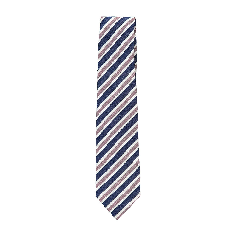 Isaia Napoli Men Navy 100/% Silk RIbbon Striped 7 Fold Handmade Tie RTL$275 NWT