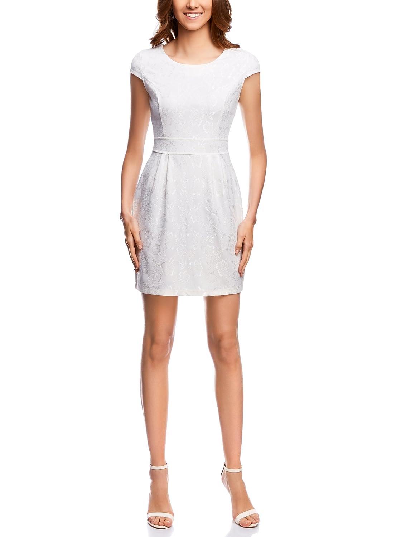oodji Ultra Mujer Vestido de Punto de Encaje: Amazon.es: Ropa y accesorios