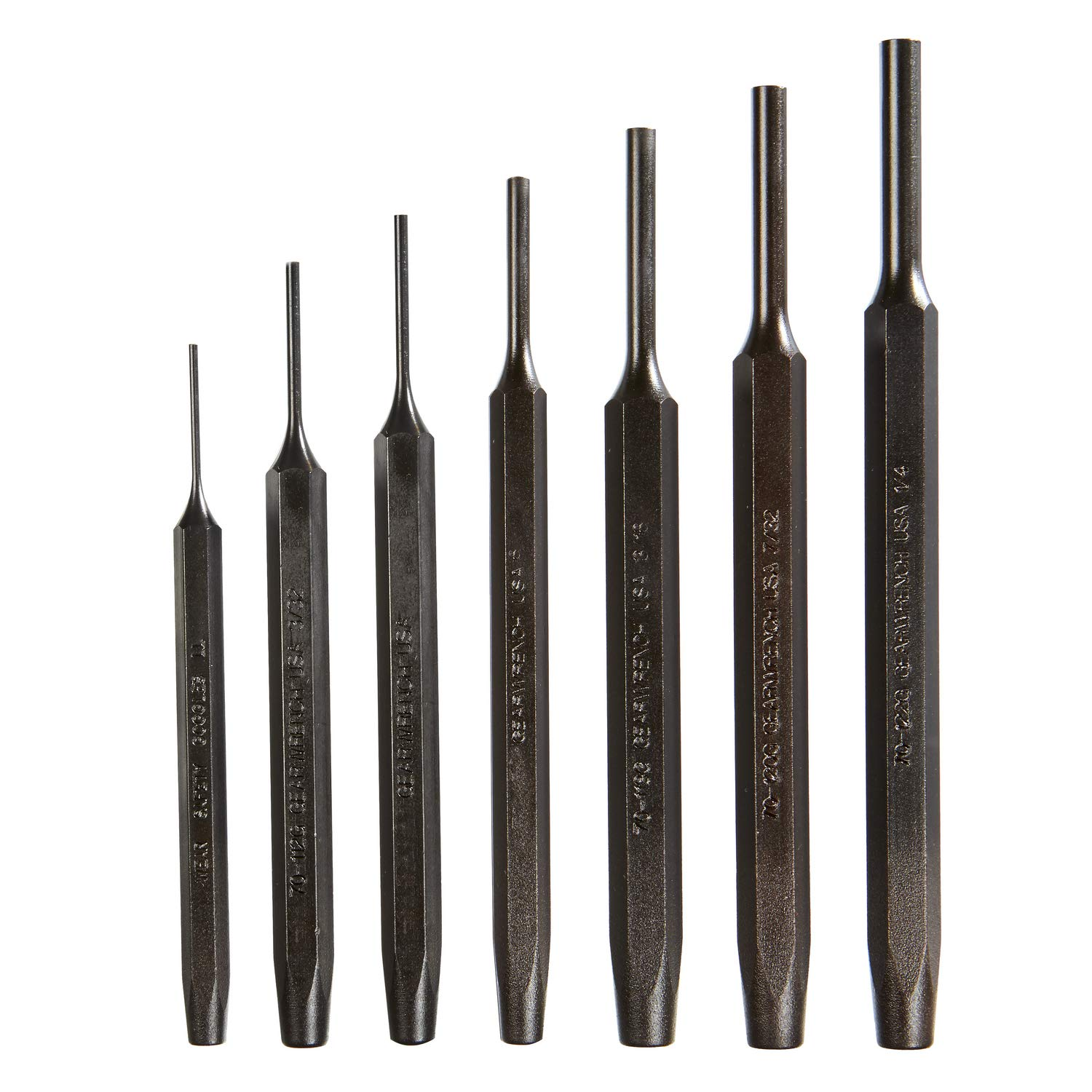 GEARWRENCH 7 Pc. Tool Steel Pin Punch Set - 70-553G by GearWrench