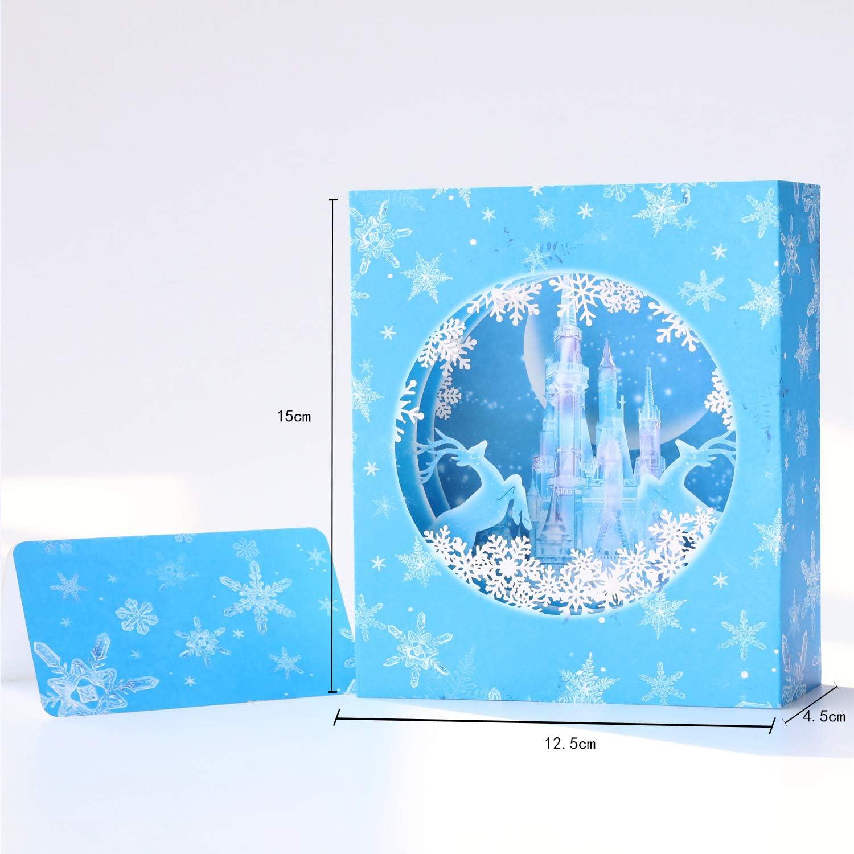 Paper Spiritz Tarjeta troquelada de Navidad; Tarjetas troqueladas ...