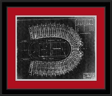 Amazon ohio state buckeyes ohio stadium plans blueprint ohio state buckeyes ohio stadium plans blueprint framed photo malvernweather Images