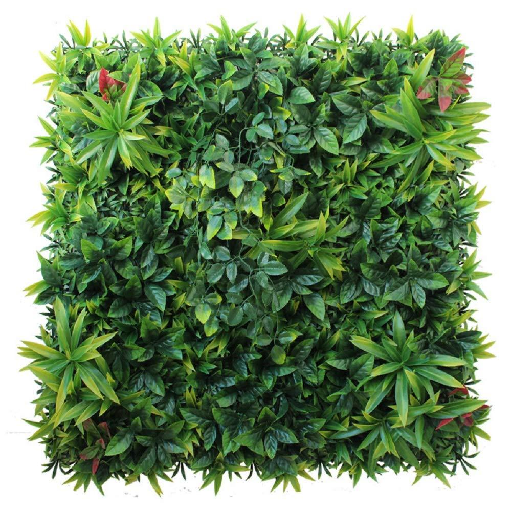 ZJWZ Künstliche Pflanzenkombination Wanddekoration Firma Front Desk Hintergrund Garten Wohnzimmer Dekoration Grünpflanzen Landschaftsbau Material 16 Stück Von 25 cm X 25 cm