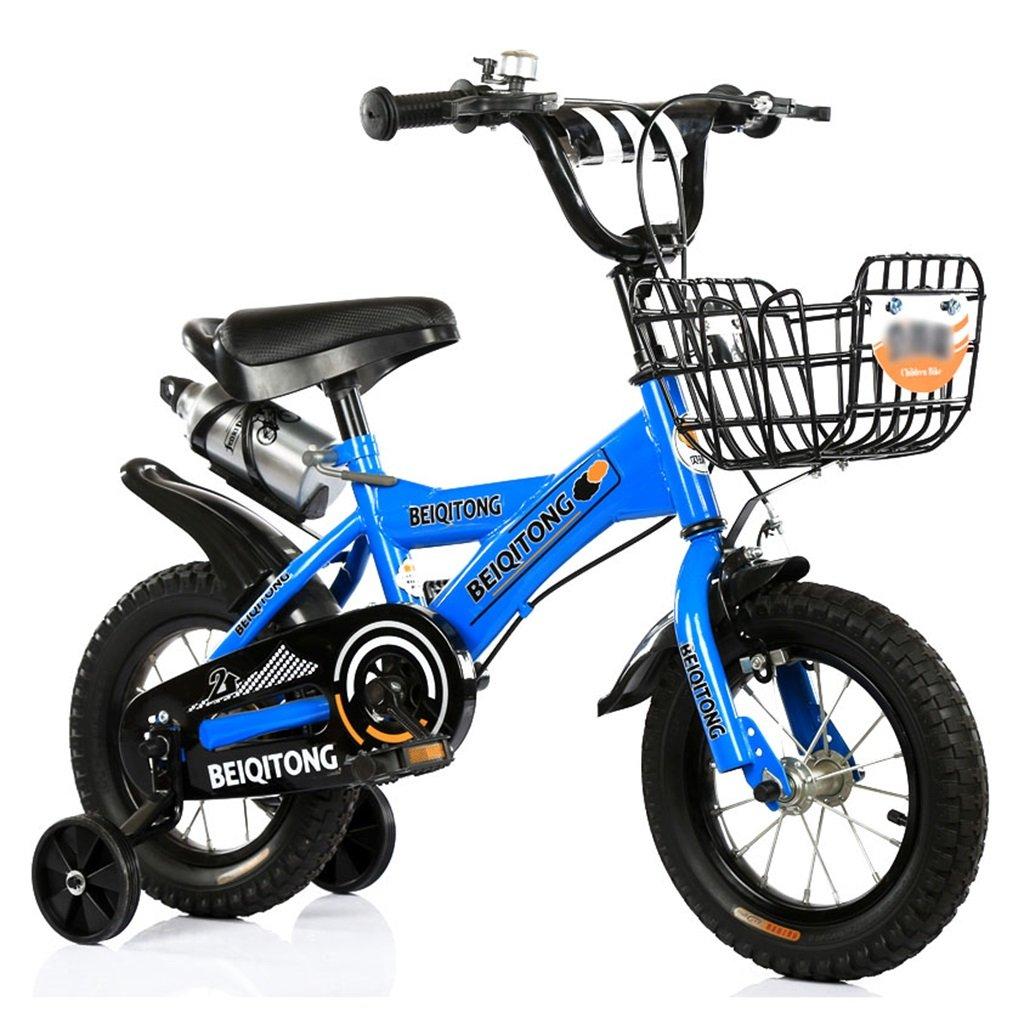 子供の自転車12 | 14 | 16 | 18 | 20インチ屋外の子供の赤ちゃんキッドマウンテンバイク黒のトレーニングホイールで2歳から11歳の男の子の女の子の贈り物|アイアンバスケット|ウォーターボトルセーフ B078JG922V 20 inches|青 青 20 inches