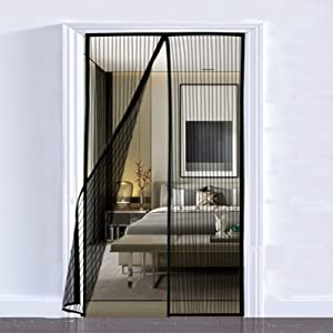 Lulu Home Magnetic Screen Door, Reinforced Screen Door Curtain with Full Frame Seal and Durable Mesh (39