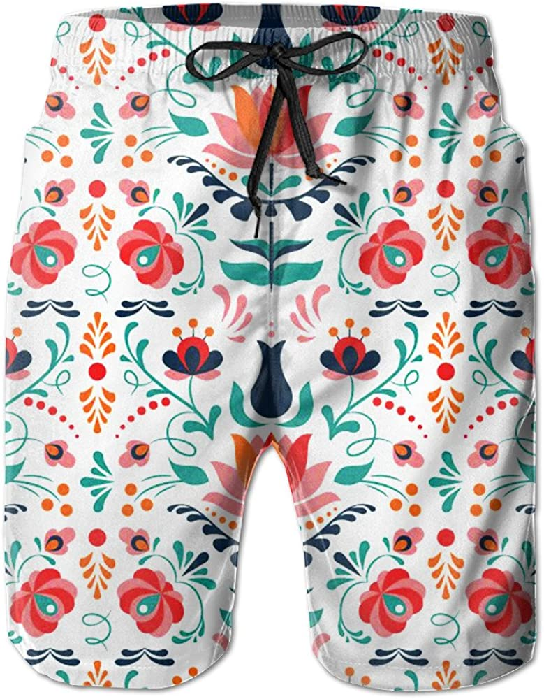 Men/â/€s Colorful Summer Casual Short Vacation Beach Shorts Swim Trunk Swimming Trunks Casual Sport Trunks Quick Dry
