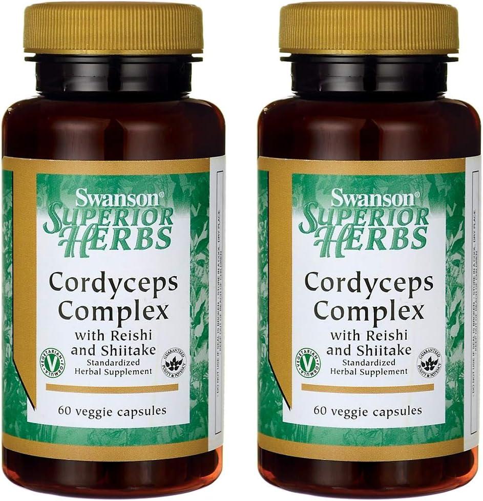 Swanson Cordyceps Complex 60 Veg Capsules 2 Pack
