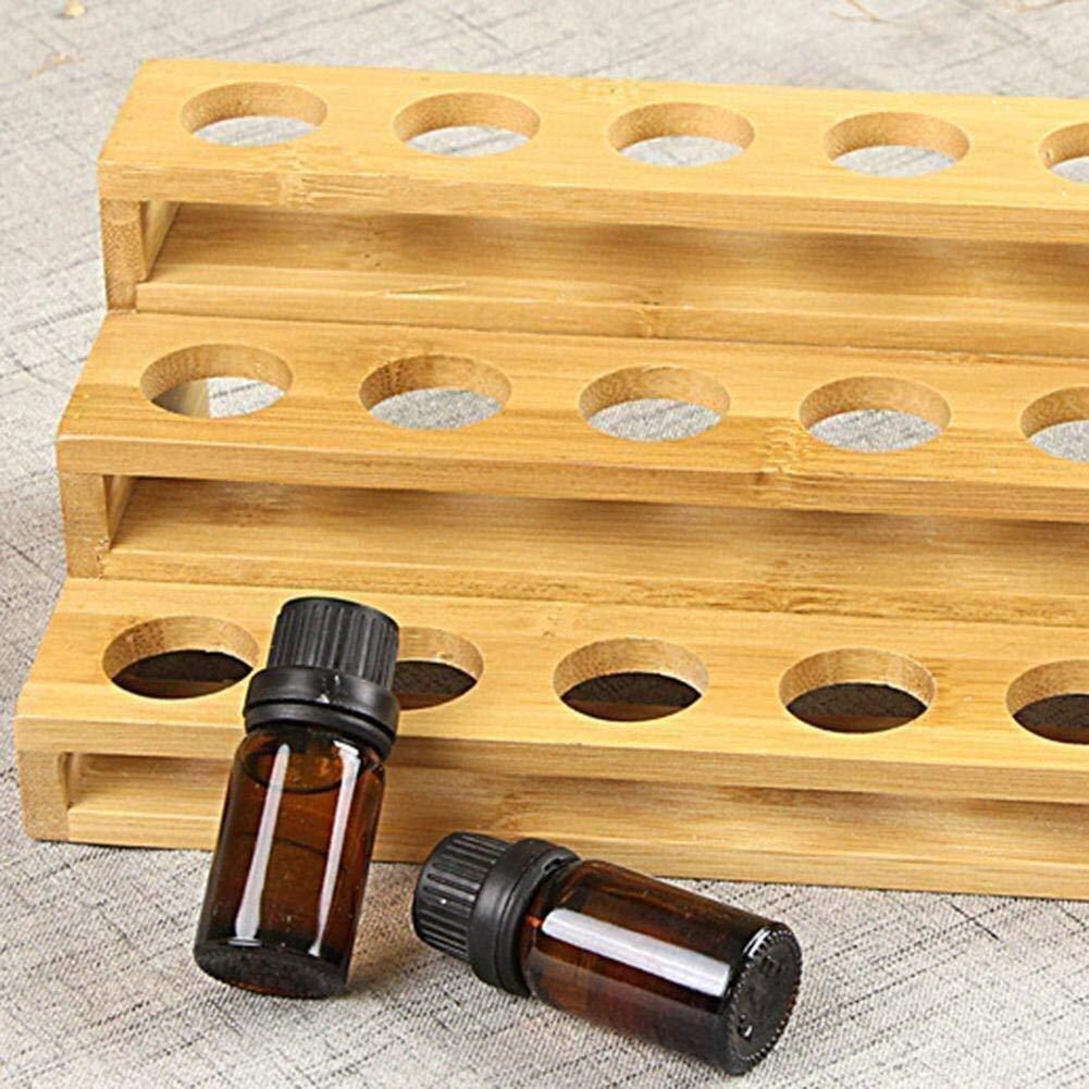 Cestello armadio griglia gioielli scatola di plast Polvere da scrivania Cassetto for Polvere di oli essenziali Cestino in legno Bottiglie di olio essenziale in legno Espositore Scaffale Scomparto mult