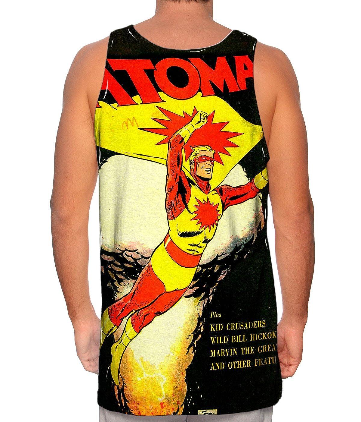 Atoman Comic Retro Yizzam Mens Tank Top TShirt