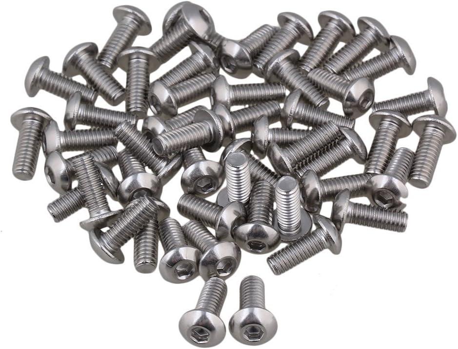 CNBTR 304 Edelstahl M4 Innensechskantschrauben Schrauben 10mm Gewindel/änge Packung /à 50 St/ück