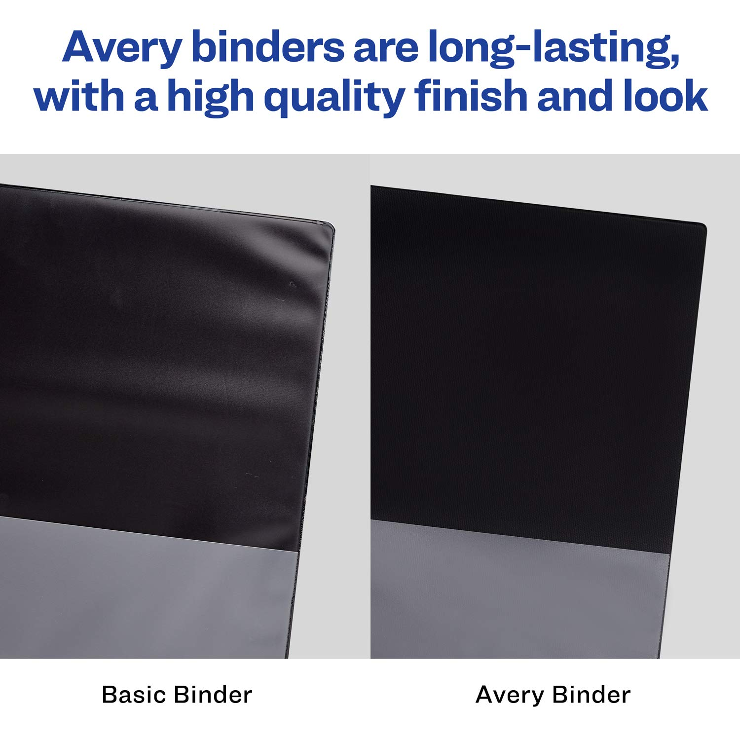 Avery 1'' Economy View 3 Ring Binder, Round Ring, Holds 8.5'' x 11'' Paper, 12 White Binders (5711) by Avery (Image #4)