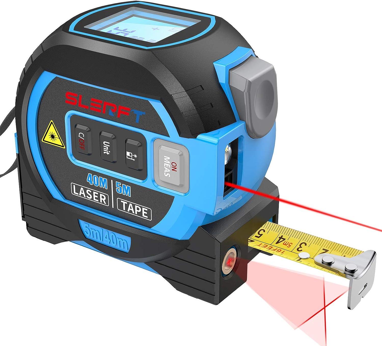 2-in-1 Laser Tape Measure Laser Measure 131 Ft Tape Measure 5 m Metric